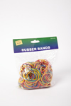 Rubber bands in plastic bag.