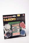 Casino playing cards, with 24 chips.